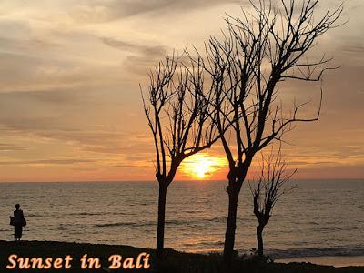サンセットが綺麗に見えるバリ島のビーチ