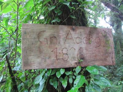 バリ島のアデン山頂上
