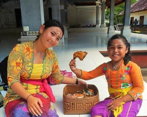 バリ島は「いただきます」の文化が素敵です