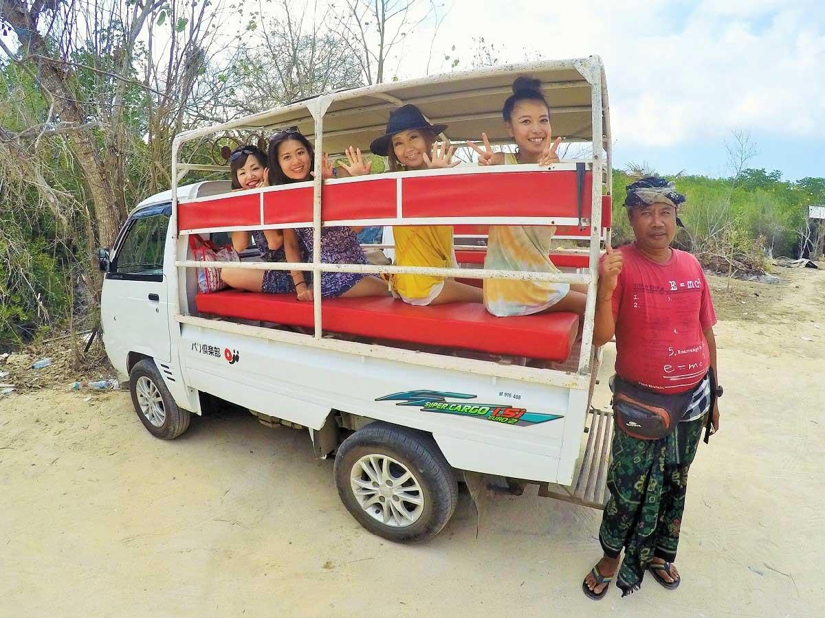 バリ島・レンボンガン島観光用トラック