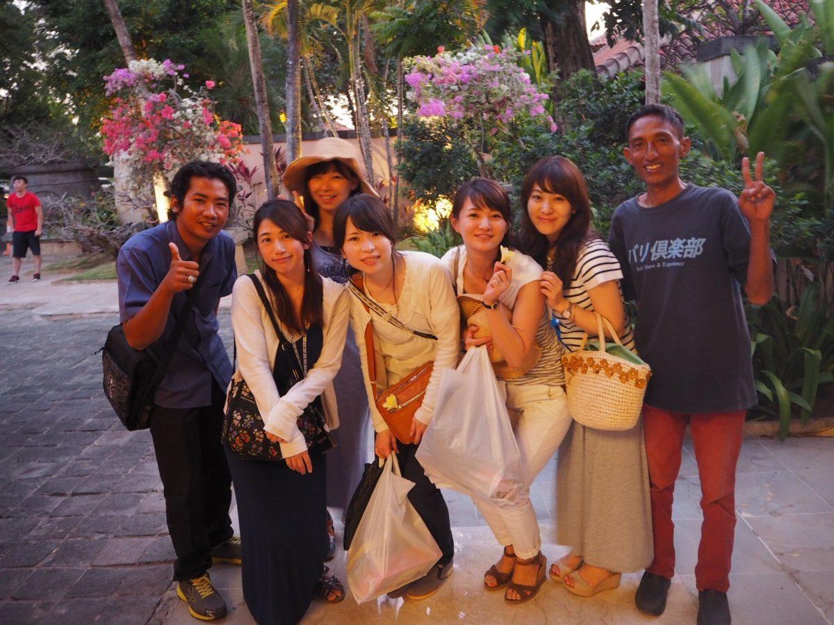 バリ島世界遺産スバックツアーのお客様
