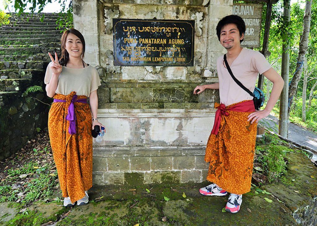 寺院入る時は腰巻と腰帯をしましょう