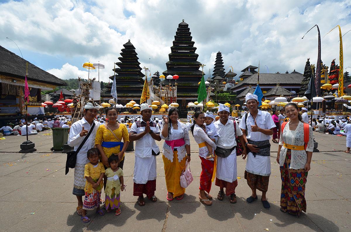ブサキ寺院にはバリ島の人々の先祖のお寺も
