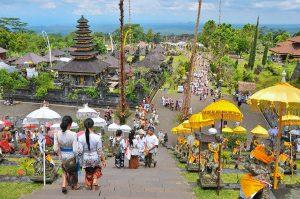 ブサキ寺院本殿からの景色
