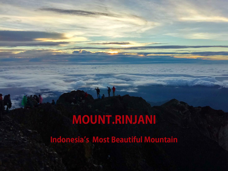 リンジャニ山頂上からの景色