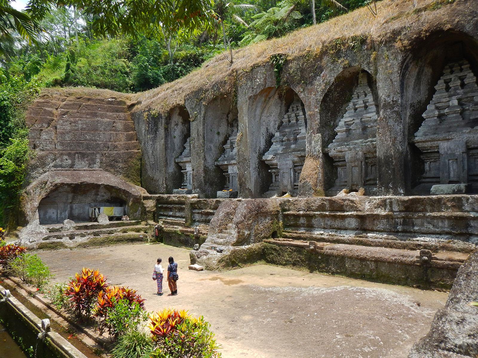 バリ島のグヌンかウィ遺跡