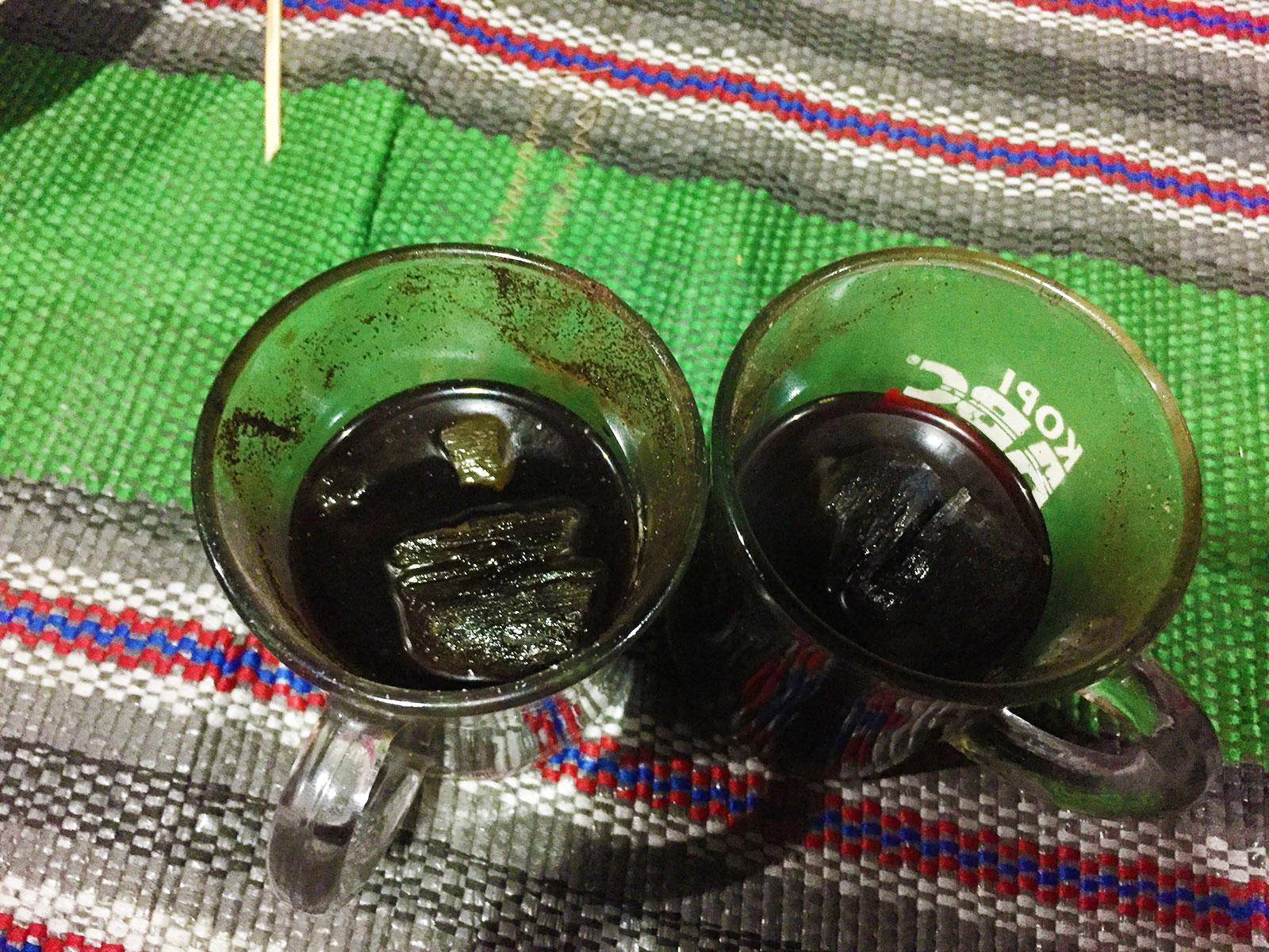 炭入りコーヒー