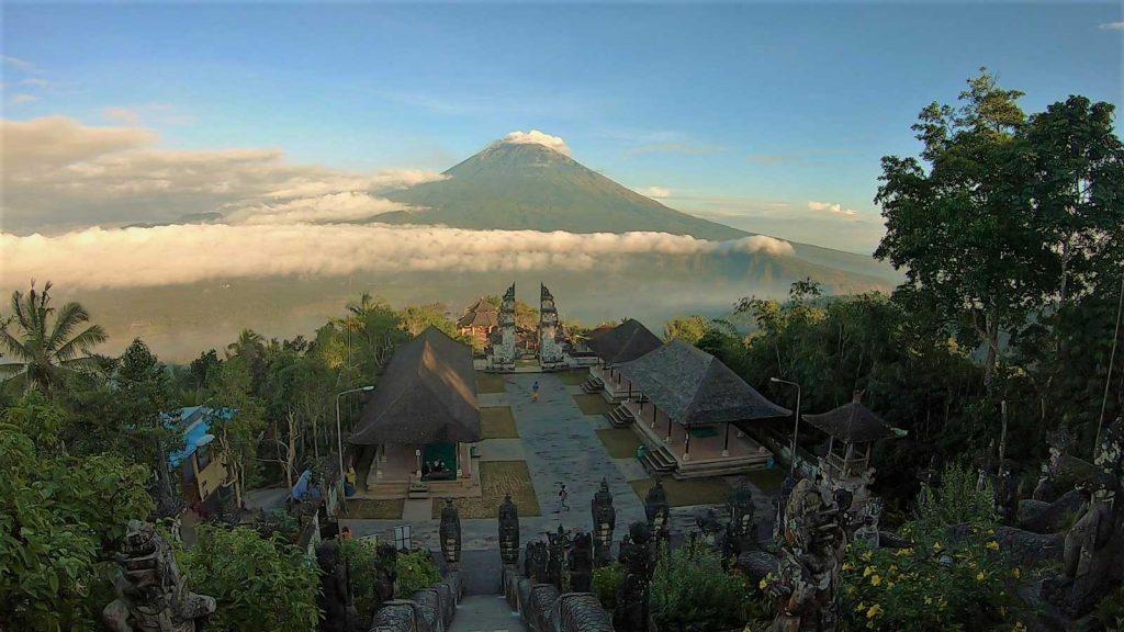 ランプヤンから眺めるアグン山