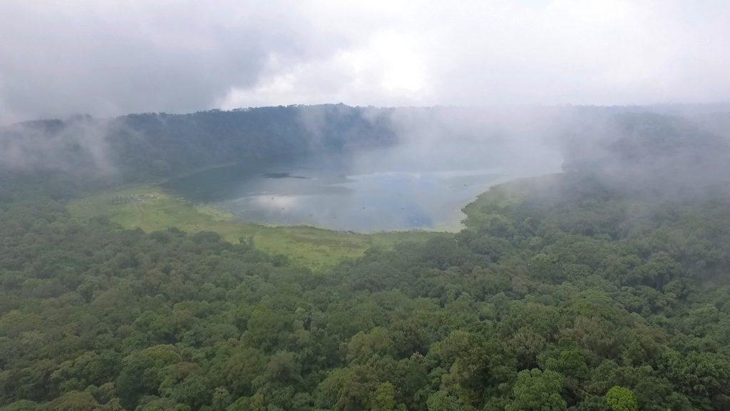 ジャングルに覆われたタンブリンガン湖