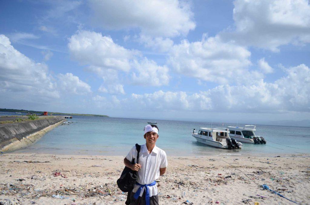 ペニダ島のビーチ