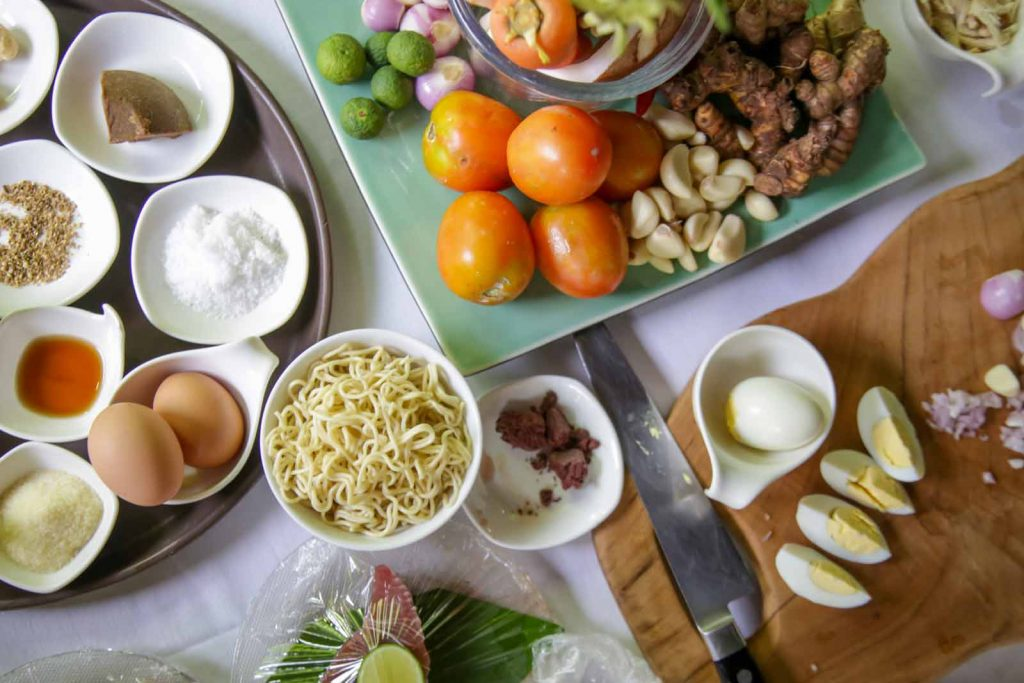 インドネシア料理の材料