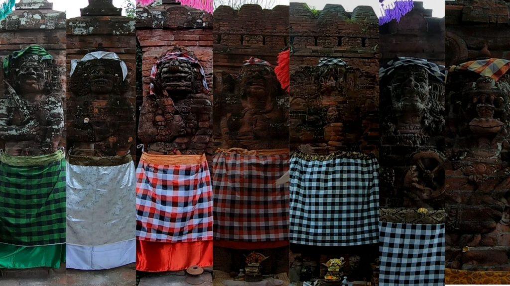 マオスパイト寺院の門に配置された7体の神様