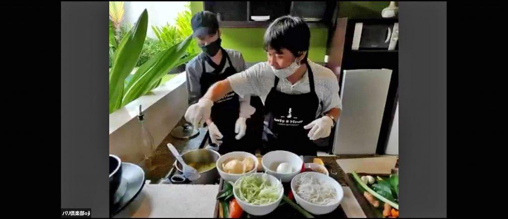 ヴィラで料理教室