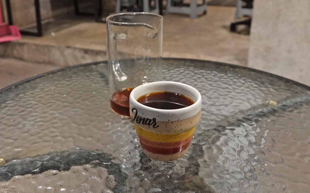 バリ島のカフェでで入れてくれたコーヒー