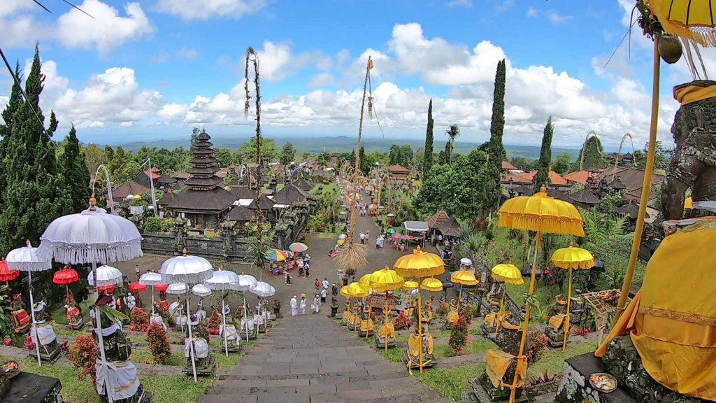 ブサキ寺院からの眺め