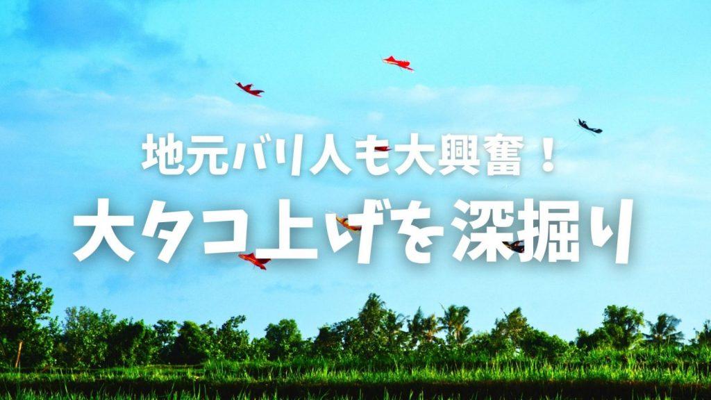 バリ島の凧揚げを深掘りオンラインツアー