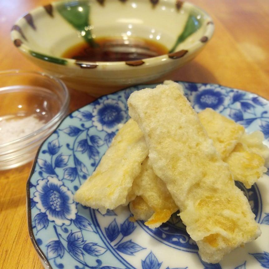 テンペで作る天ぷら