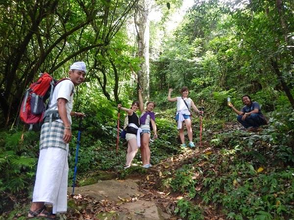 バリ島ネイチャートレッキング、自然を散歩する